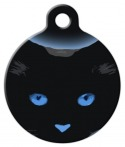 image: Blue Boo Kitty Cat ID Tag