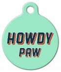 image: HOWDY PAW! Dog Name Tag