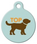 image: Top Dog Sihouette Custom Name Tag