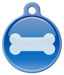 image: Bone Button Dog Collar Tag