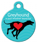 image: Greyhound Love Dog Tag for Dogs