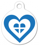 image: Greece Heart Flag Pet ID Tag