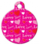 image: Love Pattern Pet Collar Tag