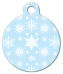 image: Soft Snowflakes Pet Tag ID