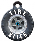 image: Tire Biter Custom Dog Tag