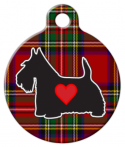 Tartan Scottie Dog ID Tag