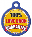 image: Love Back Guarantee Custom Dog ID Tag
