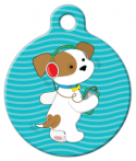 image: Groovy Pup Pet Collar Tag