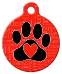 image: A Dog's Word Pet Identity Tag