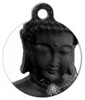 image: Stone Buddha Dog or Cat ID Tag