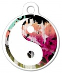 image: Colorful Yin Yang Dog Collar Tag