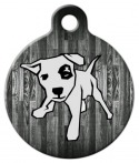 image: Wood Panel Dog ID Tag