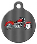 Red Motorcycle Custom ID Tag