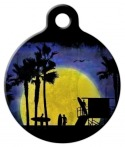 image: Surf Sunset Pet ID Tag