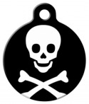 Skull and Bones Dog Tag