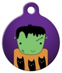 Image: Frankenstein Halloween Cat ID Tag