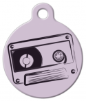 image: Old School Tape Pet ID Tag