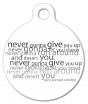 image: RickRolled Dog Identity Tag
