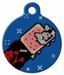 image: Pirate Nyan ID Tag for Dogs or Cats