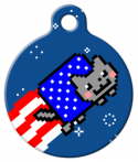 image: Patriotic Nyan Cat Pet ID Tag