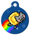 image: Nyan Coin Dog or Cat ID Tag