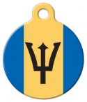 imag: National Flag of Barbados Pet Name Tag