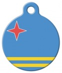 image: Aruba's National Flag Dog or Cat ID Tag