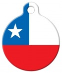 image: Chilean National Flag Pet ID Tag