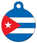 image: Flag of Cuba Dog or Cat ID Tag