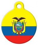 image: Flag of Ecuador Pet ID Tag