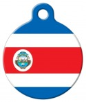 image: Official Flag of Costa Rica Pet ID Tag
