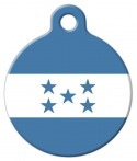 image: National Flag of Honduras Pet ID Tag