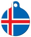 image: National Flag of Iceland Custom Pet ID