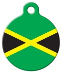 image: Jamaican National Flag Pet ID Tag