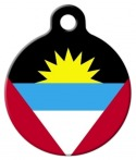 image: National Flag of Antigua & Barbuda Custom Name Tag