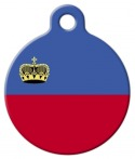 image: Official Flag of Liechtenstein Pet Name Tag