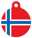 image: Norweigian Flag Dog or Cat ID Tag