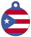 image: Puerto Rican Flag Dog Name Tag