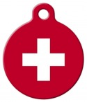 image: Swiss Flag Custom Pet Name Tag