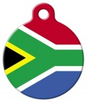 image: Flag of South Africa Custom Pet Tag