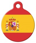 image: Spanish National Flag Custom Pet Tag