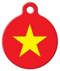 image: Vietnamese National Flag Custom Pet ID Tag