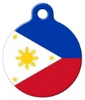 image: National Flag of the Philippines Pet ID Tag