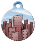 image: Cityscape Pet ID Tag