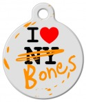 I Love Both NY and Bones Pet Tag