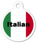 Italian Flag Pet ID Tag
