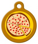 Pizza Pet ID Tag