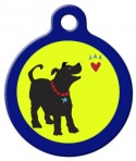 image: Bark from the Heart Dog Name Tag