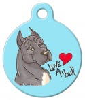 Image: Love A Pitbull Dog Identification Tag