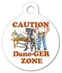 Image: Dane-ger Zone Great Dane Dog ID Tag